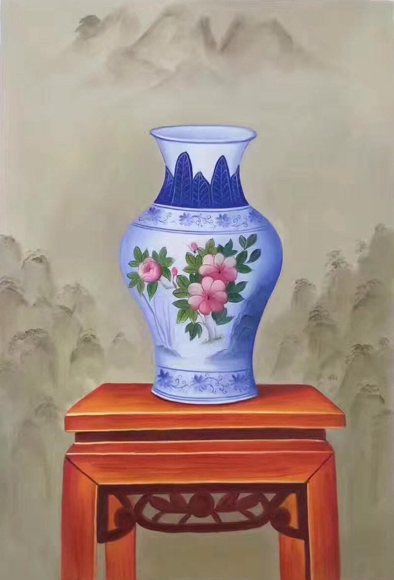 """Simple modern Hand painted oil painting on canvas""""ceramics""""60x90CM(23.6""""x35.4"""")Unframed-10"""