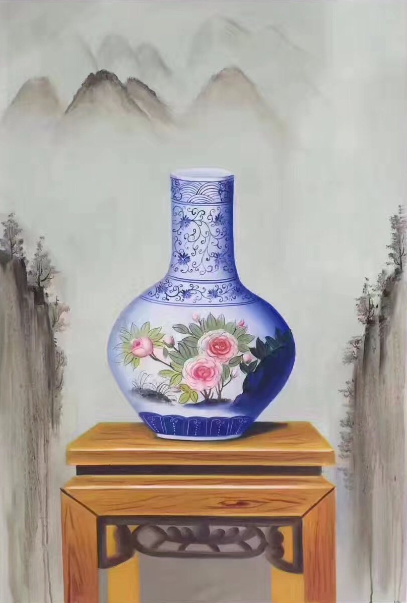 """Simple modern Hand painted oil painting on canvas""""ceramics""""60x90CM(23.6""""x35.4"""")Unframed-12"""