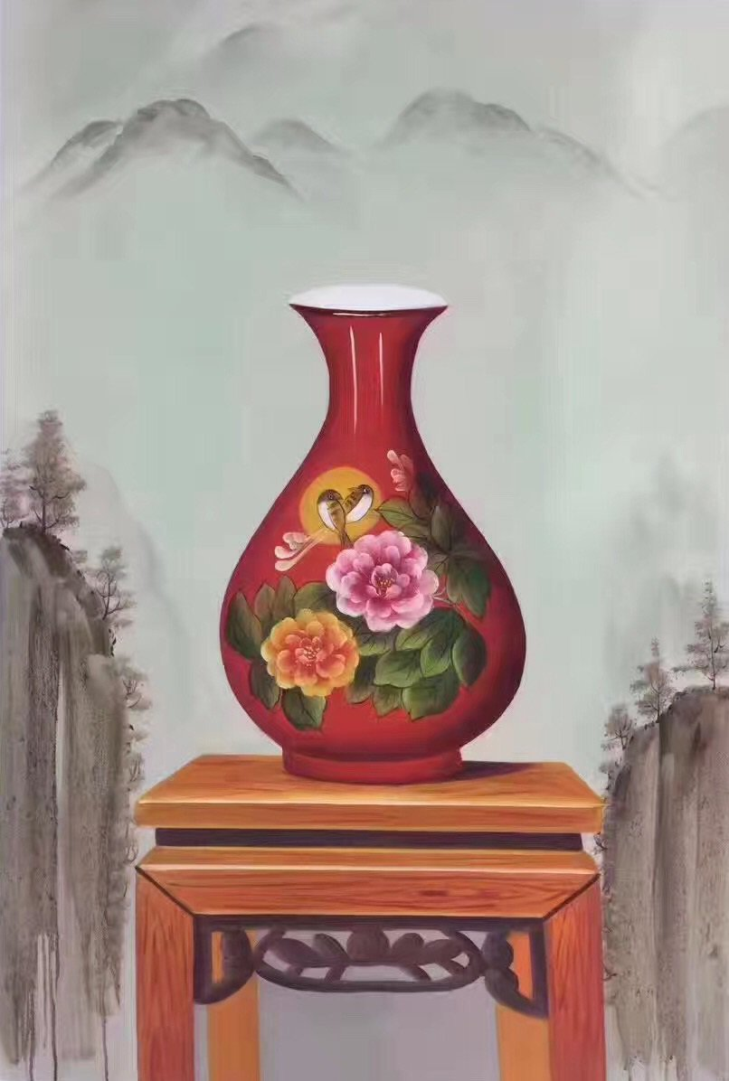"""Simple modern Hand painted oil painting on canvas""""ceramics""""60x90CM(23.6""""x35.4"""")Unframed-13"""