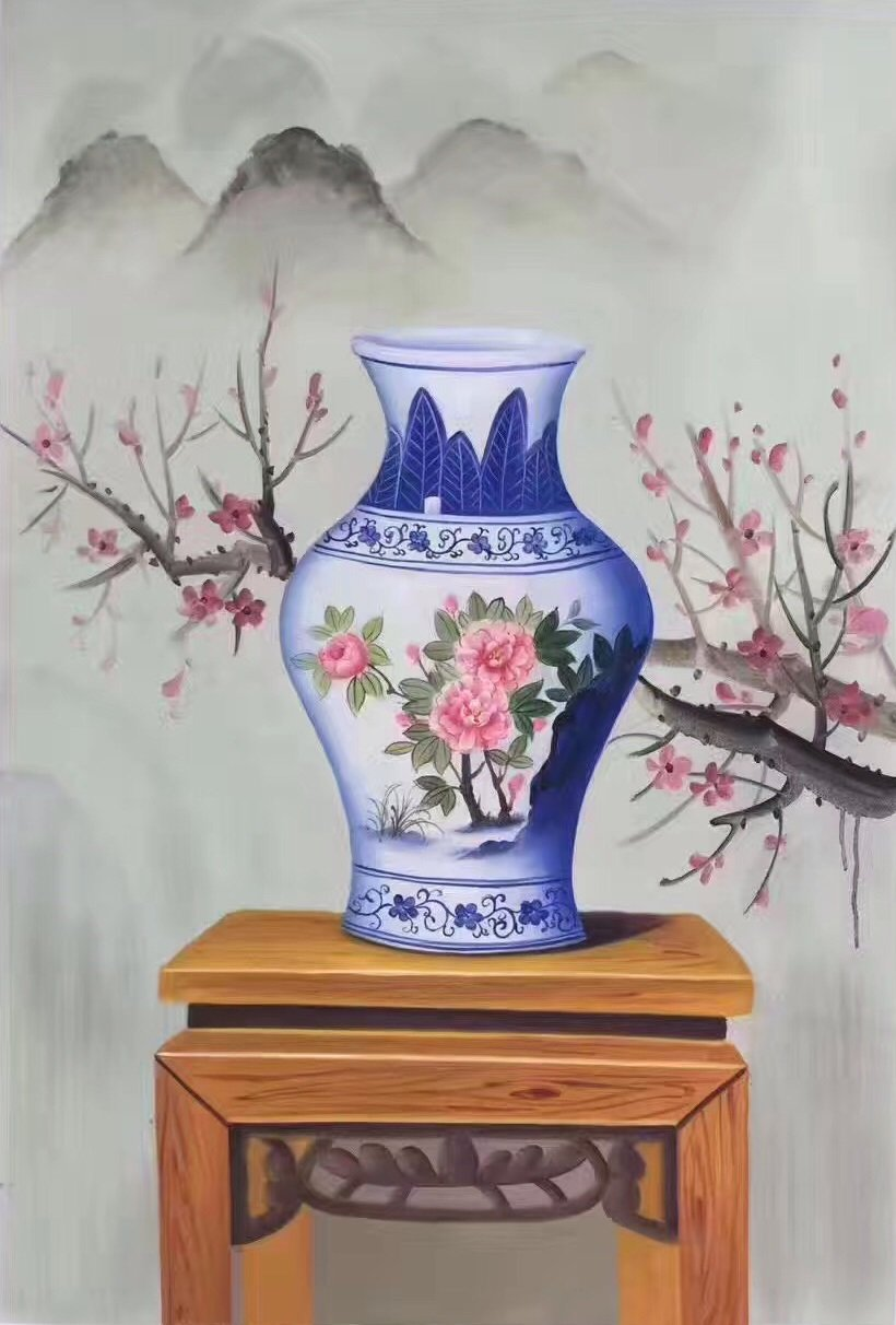 """Simple modern Hand painted oil painting on canvas""""ceramics""""60x90CM(23.6""""x35.4"""")Unframed-15"""