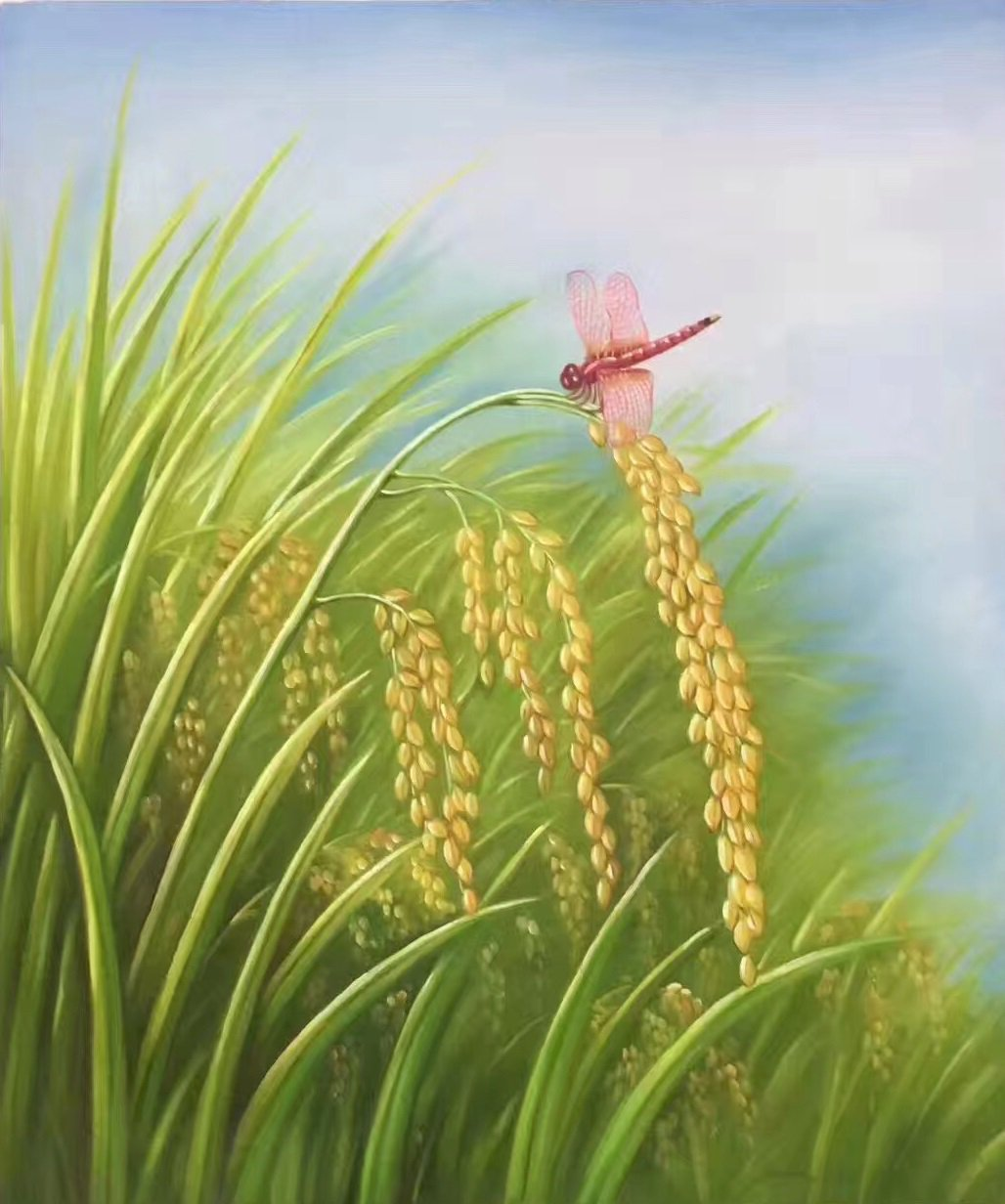 """Simple modern Hand-painted oil painting on canvas""""crop""""50x60CM(19.7""""x23.6"""")Unframed-02"""