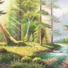 "American style Hand painted oil painting on canvas""forest""70x180CM(27.6""x70.9"")Unframed-17"