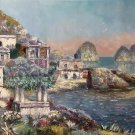 "Hand painted oil painting on canvas""Sea view Villa""60x90CM(23.6""x35.4"")Unframed-31"