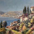 "Hand painted oil painting on canvas""Sea view Villa""60x90CM(23.6""x35.4"")Unframed-32"