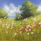 """Simple modern Hand painted oil painting on canvas""""tiny Pink blossoms""""50x60CM(19.7""""x23.6"""")Unframed-01"""