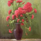 "Simple modern Hand painted oil painting on canvas""Potted flowers""50x60CM(19.7""x23.6"")Unframed-02"