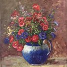 """Simple modern Hand painted oil painting on canvas""""Potted flowers""""50x60CM(19.7""""x23.6"""")Unframed-09"""