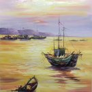 """Hand painted oil painting on canvas""""Fishing boat""""60x90CM(23.6""""x35.4"""")Unframed-06"""