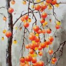 "Hand painted oil painting on canvas""persimmon""60x90CM(23.6""x35.4"")Unframed-01"