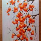 "Hand painted oil painting on canvas""persimmon""60x90CM(23.6""x35.4"")Unframed-02"