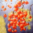 """Hand painted oil painting on canvas""""persimmon""""60x90CM(23.6""""x35.4"""")Unframed-03"""