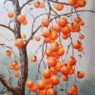 "Hand painted oil painting on canvas""persimmon""60x90CM(23.6""x35.4"")Unframed-08"