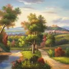 """Hand painted oil painting on canvas""""Image of the countryside""""50x60CM(19.7""""x23.6"""")Unframed-13"""