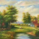 "Hand painted oil painting on canvas""Image of the countryside""50x60CM(19.7""x23.6"")Unframed-15"