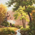 """Hand painted oil painting on canvas""""Image of the countryside""""60x90CM(23.6""""x35.4"""")Unframed-23"""