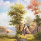 """Hand painted oil painting on canvas""""Image of the countryside""""60x90CM(23.6""""x35.4"""")Unframed-25"""