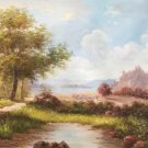 "Hand painted oil painting on canvas""Image of the countryside""60x90CM(23.6""x35.4"")Unframed-26"