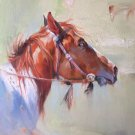 """Hand painted oil painting on canvas""""Akhal-teke horses""""60x80CM(23.6""""x31.5"""")Unframed-04"""