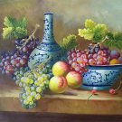 "Hand painted oil painting on canvas""bumper harvest fruits""50x60CM(19.7""x23.6"")Unframed-01"
