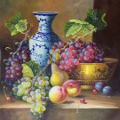 "Hand painted oil painting on canvas""bumper harvest fruits""50x60CM(19.7""x23.6"")Unframed-02"