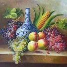 "Hand painted oil painting on canvas""bumper harvest fruits""50x60CM(19.7""x23.6"")Unframed-03"