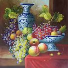 "Hand painted oil painting on canvas""bumper harvest fruits""50x60CM(19.7""x23.6"")Unframed-05"