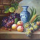 "Hand painted oil painting on canvas""bumper harvest fruits""50x60CM(19.7""x23.6"")Unframed-06"