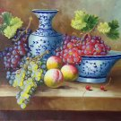"""Hand painted oil painting on canvas""""bumper harvest fruits""""50x60CM(19.7""""x23.6"""")Unframed-08"""