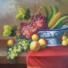 "Hand painted oil painting on canvas""bumper harvest fruits""50x60CM(19.7""x23.6"")Unframed-09"