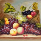 "Hand painted oil painting on canvas""bumper harvest fruits""50x60CM(19.7""x23.6"")Unframed-11"