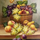 """Hand painted oil painting on canvas""""bumper harvest fruits""""50x60CM(19.7""""x23.6"""")Unframed-12"""