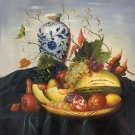 """Hand painted oil painting on canvas""""ceramics and harvest fruits""""50x60CM(19.7""""x23.6"""")Unframed-44"""