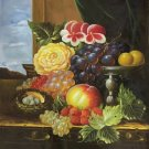 "Hand painted oil painting on canvas""ceramics and harvest fruits""50x60CM(19.7""x23.6"")Unframed-46"