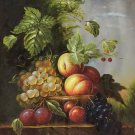 """Hand painted oil painting on canvas""""ceramics and harvest fruits""""50x60CM(19.7""""x23.6"""")Unframed-48"""