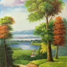 "Hand painted oil painting on canvas""Image of the countryside""60x120CM(23.6""x47.2"")Unframed-28"