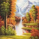 "American style Hand painted oil painting on canvas""Creek""60x120CM(23.6""x47.2"")Unframed-36"