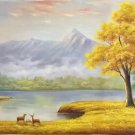 """American style Hand painted oil painting on canvas""""Creek""""70x180CM(27.6""""x70.9"""")Unframed-38"""