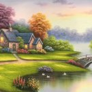 """European style Hand-painted oil painting on canvas""""mind home""""70x180CM(27.6""""x70.9"""")Unframed-17"""