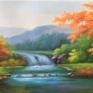"American style Hand painted oil painting on canvas""Creek""70x180CM(27.6""x70.9"")Unframed-43"