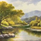 "American style Hand painted oil painting on canvas""Creek""70x180CM(27.6""x70.9"")Unframed-48"