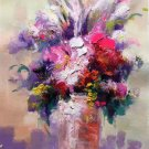 """Simple modern Hand painted oil painting on canvas""""Potted flowers""""50x70CM(19.7""""x27.6"""")Unframed-13"""