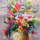 "Simple modern Hand painted oil painting on canvas""Potted flowers""50x70CM(19.7""x27.6"")Unframed-14"