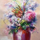 "Simple modern Hand painted oil painting on canvas""Potted flowers""50x70CM(19.7""x27.6"")Unframed-18"