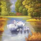 "Simple modern Hand painted oil painting on canvas""swan""60x90CM(23.6""x35.4"")Unframed-08"