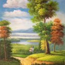 "Hand painted oil painting on canvas""Image of the countryside""60x90CM(23.6""x35.4"")Unframed-33"