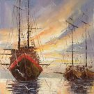 """Hand painted oil painting on canvas""""Fishing boat""""30x60CM(11.8""""x23.6"""")Unframed-10"""