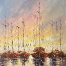 "Hand painted oil painting on canvas""Fishing boat""30x60CM(11.8""x23.6"")Unframed-12"