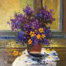 "Simple modern Hand painted oil painting on canvas""Potted flowers""50x60CM(19.7""x23.6"")Unframed-20"