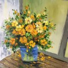 """Simple modern Hand painted oil painting on canvas""""Potted flowers""""50x60CM(19.7""""x23.6"""")Unframed-22"""