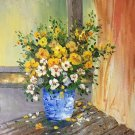 """Simple modern Hand painted oil painting on canvas""""Potted flowers""""50x60CM(19.7""""x23.6"""")Unframed-23"""